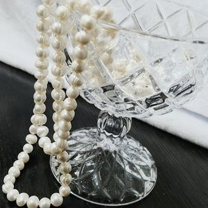 """60"""" Genuine, Cultured Pearl Necklace"""